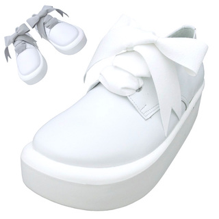 TOKYO BOPPER No.875 /  White smooth ribbon shoes