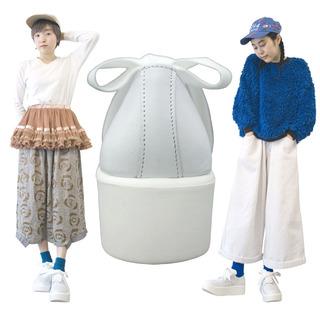TOKYO BOPPER No.875 /  White smooth ribbon shoes