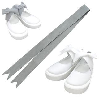 TOKYO BOPPER No.877 /  White smooth ribbon shoes