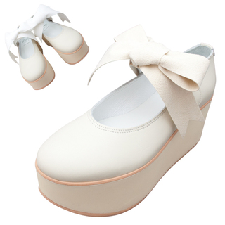 TOKYO BOPPER No.926 / Ivory smooth ribbon shoes