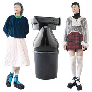 TOKYO BOPPER No.122 / Black Clarino Enamel Platforms