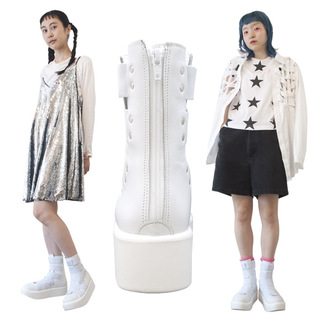 TOKYO BOPPER No.893 /  White Smooth Mid-boots