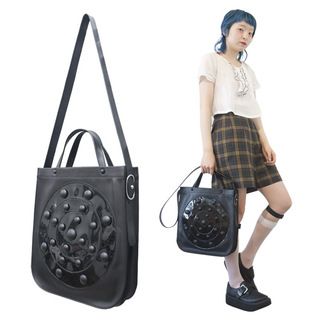 TOKYO BOPPER No.11131/ Real leather Galaxy bag / Black