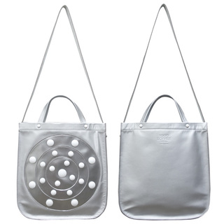 TOKYO BOPPER No.11131/ Real leather Galaxy bag / Silver