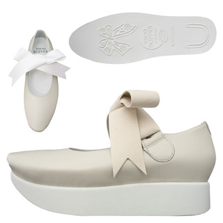 TOKYO BOPPER No.500 / Ivory Ribbon shoes