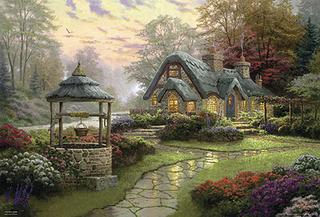 Thomas Kinkade - Make a Wish Cottage 1000 Piece Jigsaw Puzzle