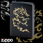 Dragon Zippo - Flame Dragon (Black)