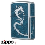 Dragon Zippo - Armor 162 Dragon - Mirror Blue