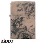 Dragon Zippo - Dragon and Tiger - Silver Titanium KL3