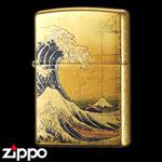 Zippo - Gold Leaf Artwork - Hokusai's The Great Wave off Kanagawa