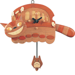 My Neighbor Totoro - Natural Wood Nekobus Clock