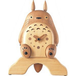 My Neighbor Totoro - Natural Wood Clock