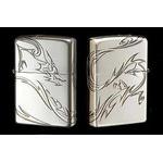 Tribal Zippo - Dragon  (Silver)