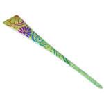 Titanium Hair Stick  (Chrysanthemum - Green)