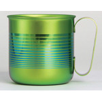 Titanium Mug Cup - Border  (Gold)