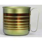 Titanium Mug Cup - Border  (Brown)