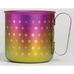 Titanium Mug Cup - Polka Dot  (Yellow Magenta)