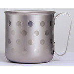 Titanium Mug Cup - Polka Dot  (Silver)