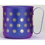 Titanium Mug Cup - Polka Dot  (Violet)