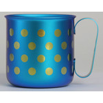 Titanium Mug Cup - Polka Dot  (Light Blue)