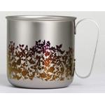 Titanium Mug Cup - Garden  (Brown)