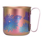 Titanium Mug Cup - Chrysanthemum  (Pale Pink)