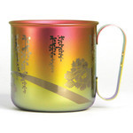 Titanium Mug Cup - Peony  (Pink Gold)