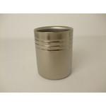 Double-Walled Titanium Mug Cup - Medium  (Platinum)