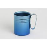Double-Walled Titanium Mug Cup - Medium with Handle  (Gradation Blue)