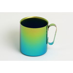 Double-Walled Titanium Mug Cup - Large with Handle  (Gradation Green)