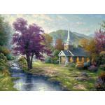 Thomas Kinkade - Streams of Living Water 1000 Small Piece Jigsaw Puzzle