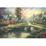 Thomas Kinkade - Sunset on Lamplight Lane 2000 Small Piece Jigsaw Puzzle