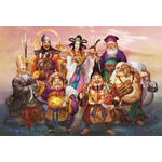 Seven Gods of Fortune - Japanese Design 2000 Small Piece Jigsaw Puzzle