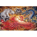 Four Gods - Japanese Design 1000 Piece Jigsaw Puzzle