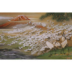 Departing of Cranes - Japanese Design 1000 Piece Jigsaw Puzzle