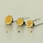 Titanium Tie Pin - Samurai Insignias Gold (S)