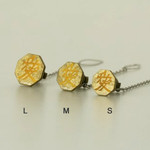 Titanium Tie Pin - Samurai Insignias Gold (L)