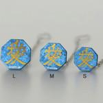 Titanium Tie Pin - Samurai Insignias Blue (L)
