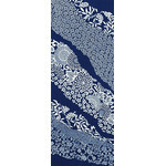 Flower Flow - Tenugui (Japanese Multipurpose Hand Towel) - Indigo