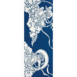 Gods of Wind and Thunder - Tenugui (Japanese Multipurpose Hand Towel) - Indigo