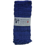 Natural Stretchy Scarf  - Azure