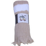 Naturally Dyed Cotton Scarf  - Brown