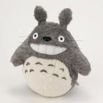 Smiling  O-Totoro Plush Dark Gray (LL)