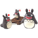 Roaring O-Totoro Plush Dark Gray (L)
