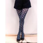 Harajuku Style Blue Polka Dot Tights/Leggings - Made in Japan