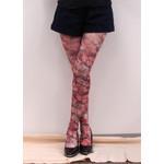 Harajuku Style Baroque Flower Tights/Leggings - Made in Japan