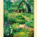 208-W206 Okino House - blooming garden courier 208 piece jigsaw flower of witch tree