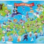 The! DC-60-059 Let's play with a map of Japan and Disney child puzzle 60 piece Mickey