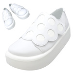 TOKYO BOPPER No.876 /  White smooth dot shoes