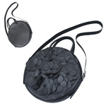 TOKYO BOPPER No.11181/ Real leather Round bag Flower / Black